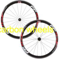 Wholesale Bike Carbon Wheels Sale - Top sale FFWD F4R 38mm alloy carbon wheels white red decal fast forward aluminum brake surface 23mm width 700C 3k road bike carbon wheels