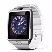 iphone gsm toptan satış-Sevgililer Günü Hediyesi Akıllı Saatler Telefon DZ09 Android için Bluetooth Smartwatch GSM SIM Kartı Handsfree IOS Smartphone iPhone 6 Plus Samsung