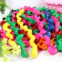 Wholesale Spiral Latex - 100 pcs lot Hot sell Multicolor Twist Spiral Latex Balloons Wedding Kids Birthday Party Decor Toy wholesale