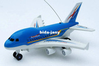 Wholesale Cheap Airplane Models - On Sale Cheap RC Airplane Aero Bus Model Flashing Light With Voice of the Plane Takes Off Cheap Toy