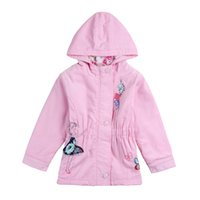 Wholesale Nova Baby Clothes For Winter - children girls outwear nova brand kids clothes embroider cartoon casual autumn winter 100% cotton coat for baby girls F5250