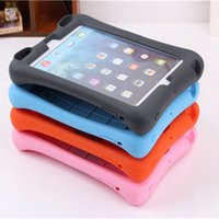 Cover Ipad5 Pas Cher-Housse en silicone silicone souple Soft Siliconproof pour iPad 2 3 4 pour ipad5 / 6 avec support