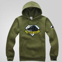 Wholesale Long Dog Pattern - MGS 5 Metal Gear Solid V The Phantom Pain Diamond Dogs Logo Hoodies Printed Pattern Pullovers Coats Sweatshirts