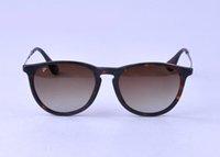 Wholesale Nylon Sunglasses - Erika Ray 4171 Bans Sunglasses Fashion Women Polarized Sunglasses Brand Designer Sunglasses 54mm Gradient Resin Lenses Nylon Frame