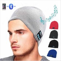 Wholesale earphone caps for iphone online – Wireless Bluetooth Headphones Music Hat Smart Caps Headset Earphone Warm Beanies Winter Hat With Speaker Mic For sports