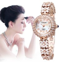 Wholesale Brand Luxury Watches Women - Wholesale-Clear Crystals Sapphire Mirror Silver Gold Luxury Brand Watches Women Dress Watch Lady Fashion Quartz Wristwatch Female Relogio