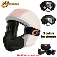 Wholesale Helmet Motorcycle Sale - Hot Sales Cyclegear Motorcycle Mask Gafas Motocross Detachable Goggles Perfect For Open Face Capacetes Casco or Vintage Helmets