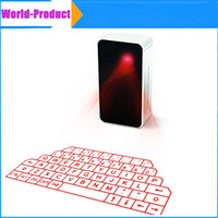 Wholesale Wireless Keyboard For Phone - 2015 Bluetooth laser Projection Keyboard Virtual Wireless with Music Player For Samsung phone Ipad Iphone6 6plus 6s Laser free DHL 002903