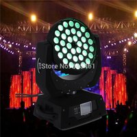 Comercio al por mayor de alta calidad de 36 * 10W RGBW 4IN1 de Multi-Color LED de cabeza móvil Wash LED Disco 110v / 220v de pie Led Iluminación DJ lámpara