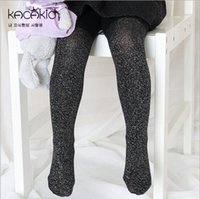 Wholesale Kids Capri Leggings Wholesale - 2016 bling shining kid leggings PANTYHOSE capri leggings girls pantyhose kids tights children leggings & tights