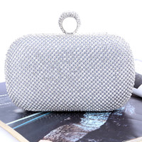 Wholesale evening bag online - Factory direct Retaill brand new handmade unique diamond evening bag clutch with satin for wedding banquet party porm more colors