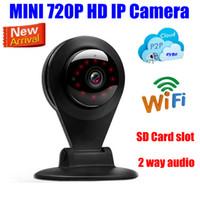 Wholesale Mini Ip Webcam - HD 720P Wireless Household Video Monitoring cctv security IP Camera MINI wifi webcam Not Dropcam SD Micro TF Card slot audio