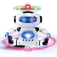 Space Dancing Humanoid Robot Toy com luz Eletrônica Dancing Music Robot Toys Kids Boy Toddler RC Robot 30pcs OOA3772