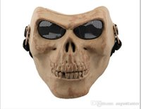 Hot selling M02 CS equipment field full face skeleton party horror cartoon mask Halloween Masquerade mask male Venice Italy flathead lace Mask 2015