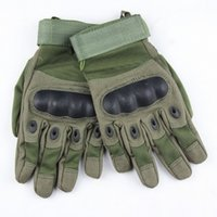 Wholesale Leather Mittens Fingers - free shipping new sale Outdoor Sports Army Military Tactical Airsoft Hunting Cycling Bike Gloves full Finger Gloves 3 color