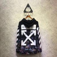 Wholesale Men Diagonal Hoodie - Falection 17fw Off White Diagonals Print Universe Pullover Hoodie Sweatshirt
