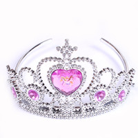 Wholesale Wholesale Pageant Accessories - Cinderella princess girl crowns hearts tiara baby party hair accessories pageant hairbands gift 2 style B001