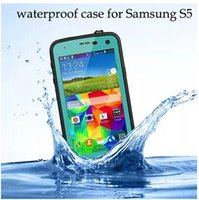 Wholesale Galaxy S4 Water Proof Cover - i9600 Waterproof case For Samsung galaxy S5 i9600 S4 i9500 covers Water Shock Dirt Proof with Retail Package cases water proof redpepper