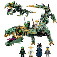 2017 Ninjago Movie Set Green Ninja Mech Dragón Lloyd Wu Garmadon Charlie Ice Tank Robot Lepin Compatible con Legoing Blocks