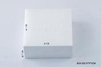 gösterilen bilezikler toptan satış-Beyaz Pandora stil Kutusu Düz Sünger veya Yastık Içinde Charms Boncuk Kolye Küpe Yüzük Bilezik Takı hediye kutusu kağıt çanta Paketi Ekran