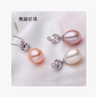 packaging distribution - 9mm mm bright pearl genuine natural freshwater pearl pendant silver drip distribution chain of high end gift packaging
