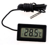 Hygrometer Industrial  Mini LCD Digital Thermometer Temperature Sensor Fridge Freezer Thermometers -50~110C Controller GT black FY-10 Temperatures