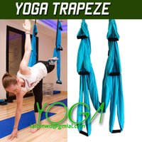All'ingrosso-Aerial Yoga Amaca allenamento Pilates Yoga Inversion Altalena Trapeze Anti-Gravity Fitness strumento anima corpo allenamento
