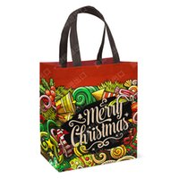 Wholesale Candy Plastic Bag Fashion - 2017 New year christmas gift bags Creative Sequins Christmas Socks Trumpet Gift Bag Christmas Tree Decorations Plastic shopping Candy Bags