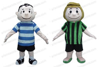 Wholesale Wholesale Party Mascot Costumes - Fast Delivery Peppermint Patty and Linus mascot costume cartoon character mascot Adult Fancy Costume Party dress