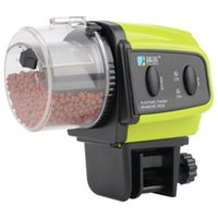 Green Color Digital Elétrico Alimentador de peixe automático Dispenser Timer Aquarium Tank Fish Food Feeding Auto Feeder