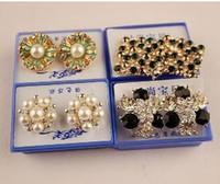 Wholesale Ears Swarovski - 2015 earrings ear rings rose gold geometric earrings swarovski earrings Christmas earrings Wedding Stud Earring wholesale earring