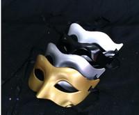 Wholesale Face Free Roman - Express Free Venetian Party Mask Roman Gladiator Halloween Party Masks Mardi Gras Masquerade Mask Color: Gold, Silver, Black, White