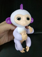 Wholesale Big Bag Colors - New Finger monkey 6 colors Pre-sale Fingerlings Interactive Baby Monkey Finger Toys Baby Oppo Bag Sound Finger Motion Hanger Toy Gift