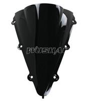 ingrosso parabrezza yamaha-Parabrezza a doppia bolla moto WindScreen per 2004-2006 Yamaha YZF 1000 R1 2005 04 05 06 Colore nero
