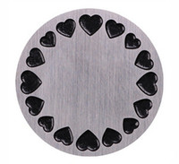 placas de janela para armaduras venda por atacado-20 Pçs / lote 22mm Rodada de Aço Inoxidável Placas de Janela Medalhão Amor Apto Para 30mm Vidro Vivo Medalhões Flutuantes