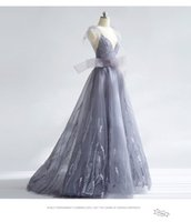 Wholesale Tree Jewel - Tree Style Prom Dresses Long Tulle and Lace V neck Strapless Evning Dress Beautifull Evening Gown