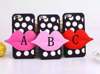 Wholesale Dots Back Cover Protector Cases - Hot Item Polka Dot Pattern iPhone 5 6 6s 6 plus 6s plus Phone Shell Sexy Lips Soft Back Protector Cover Skin