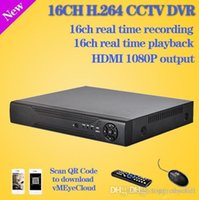 Wholesale Dvr Standalone 16ch Realtime - Free shipping 16 channel cctv digital video Recorder realtime recording HDMI 1080P security surveillance 16ch standalone dvr A5