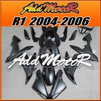 Wholesale Glossy White Yamaha - Addmotor Injection Mold Fairing For Yamaha YZFR1 YZF-R1 YZF R1 2004 2006 04 06 Glossy Matte Black White Flame +5 Free Gifts