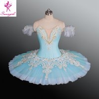 Wholesale China Tutu - Adult Sky Blue Color Ballet Tutu Ballet Nutcracker Child Performance Costumes Tutus China Dance Wear Ballerina Clothes AT1171