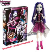 spectra vondergeist doll - Original Monster High dolls Monster High Y0421 It s Alive Spectra Vondergeist Doll toys best Gift for Girl