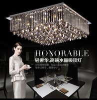 Wholesale led crystal light new design online - New design Modern brilliant generous led segmented dimmable chandelier ceiling light fixture indoor square crystal ceiling light