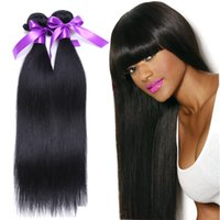 Brazilian Straight Hair Wefts 3Pcs Natural Black 100% Unprocessed Brazilian Virgin Hair Straight Extensão do cabelo humano Brazilian Hair On Sale