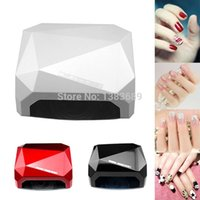 Wholesale Ccfl Led Gel Diamond - Wholesale-36W LED CCFL Nail Dryer Light Pink Diamond Shape UV Gel Curing Lamps 2015 New Popular Nail Lamp for UV and LED Gel Polish