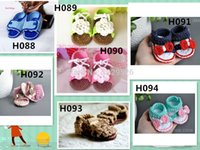 Wholesale baby crochet shoe patterns for sale - Group buy Crochet baby shoes Soft flower white leaves infant knitted first walker shoes toddler sandals pattern M baby shoes