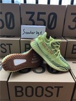 Wholesale Green Bold - Boost 350 V2 B37572 Semi Frozen Yellow B37572 Blue Tint Grey AH2203 Beluga 2.0 Grey Bold new color kanye west running shoes