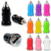 Wholesale Mini Usb Charger For Car - Colorful Bullet Mini USB Car Charger Universal Adapter for iphone 5 6 6S plus S5 S6 EGO CHARGERs