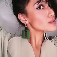 2018 New Resin Yellow Drop Earring Feminino Fashion Party Gift Cute Vintage Ethnic Maxi Punk Bohemian Green Dangle Brincos para mulheres Jóias