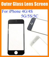 Wholesale Iphone Copy Parts - For iPhone 4G 4S 5G 5S 5C Front Outer Glass Lens Touch Screen Cover Touch Screen digitizer replacement repair part high Original copy SNP006