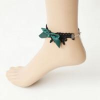Wholesale Fl Design - Vintage Turquoise Bowtie Gypsy Anklets for Women Indian Anklet Bracelet Designs Black Lace Foot Jewelry Anklets 2015 Brand FL-22